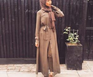 hijab, brown, and green image