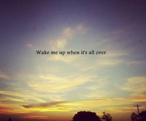 wake me up, quotes, and sky image