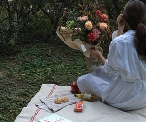 date, nature, and picnic image
