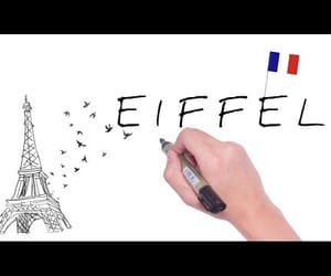 beautiful, drawing, and eiffel tower image