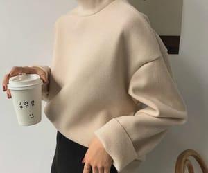 fashion, coffee, and beige image
