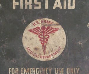 first aid, forties, and military image