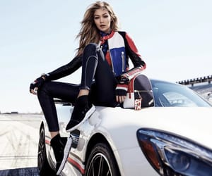 racing, tommy hilfiger, and gigi hadid image