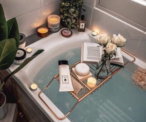 bath, candle, and relax image