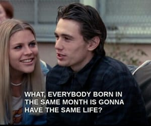 freaks and geeks, horoscope, and james franco image