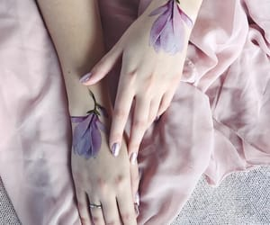 pink and tattoo image