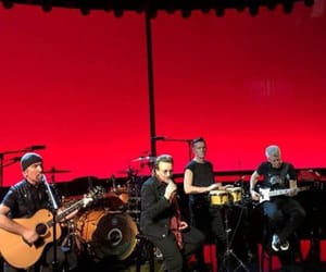 adam clayton, edge, and rehearsals image