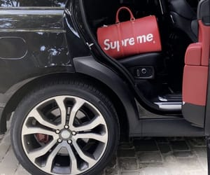 supreme, car, and black image