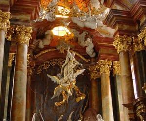 architecture, interior, and sculpture image