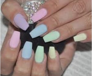 nails, girl, and pastel image