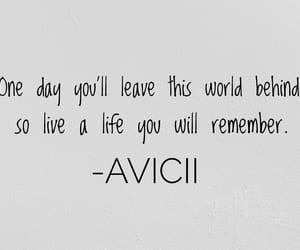 quotes, avicii, and forever image