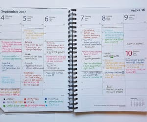calendar, colorful, and mine image