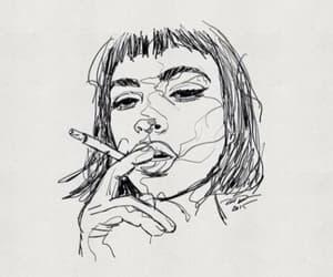 art, drawing, and smoke image
