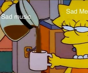 sad, meme, and music image