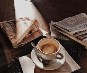 coffee, classy, and newspaper image