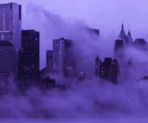 city, purple, and aesthetic image