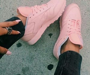 pink, shoes, and nails image