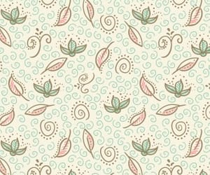 background, leafs, and pattern image