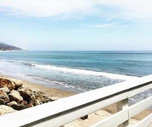 beach, california, and malibu image