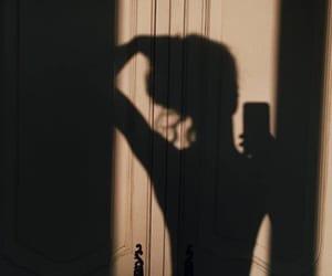 shadow, girl, and aesthetic image