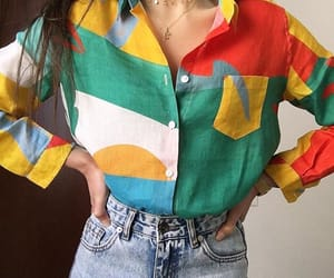 accessories, denim, and green image