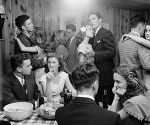 party, vintage, and couple image