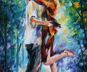 art, Oil Painting, and kiss image