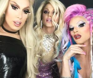 drag queens, makeup, and rpdr image