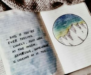 quotes, art, and moon image