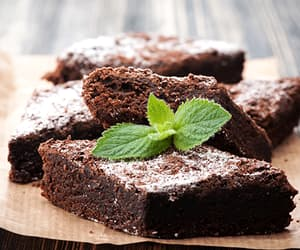 article, brownie, and chocolate image