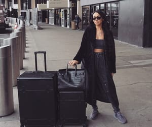 airport, classy, and makeup image