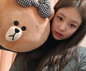 bear, girl, and jennie image