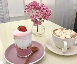 pink, food, and strawberry image