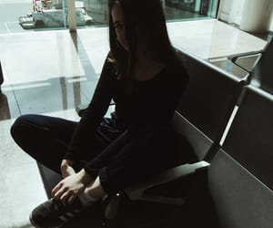 airport, clothes, and fashion image