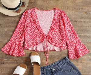 blouse, fashion, and red image