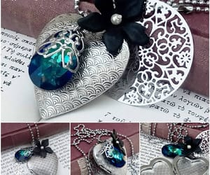 gothic jewelry, alternative fashion, and blue necklace image