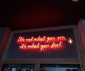 quotes, neon, and light image