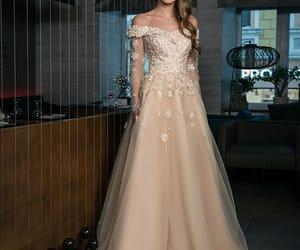beautiful, champagne, and dress image