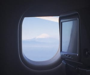 airplane, blue, and flight image