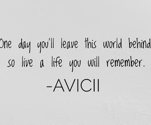 quotes, avicii, and Lyrics image