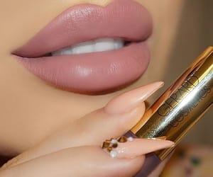 lips, matte, and makeup image