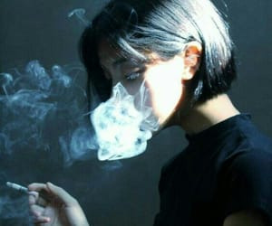 smoke, black, and smoking image