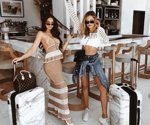 girl, travel, and friendship image