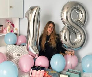 balloons, birthday, and birthday girl image