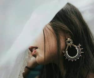 earrings, girls, and jumkaa image