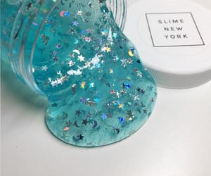 blue, glitter, and slime image