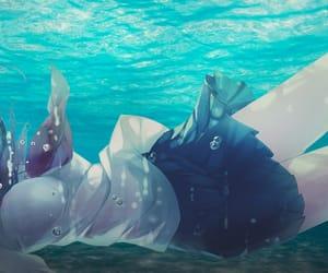 anime, art, and drown image