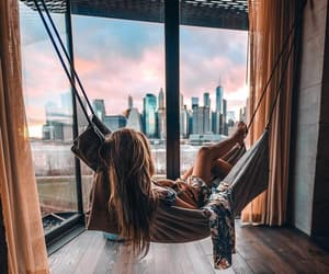 relax, hammock, and view image
