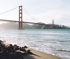 beach, city, and golden image