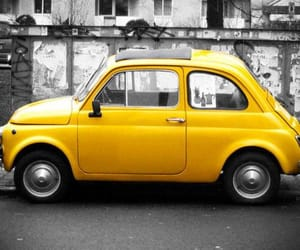 aesthetic and yellow cars image